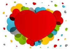 Fondo del cuore Immagine Stock Libera da Diritti