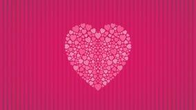 Fondo del cuore Fotografia Stock