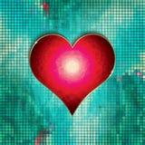 Fondo del cuore dei biglietti di S. Valentino Immagine Stock Libera da Diritti