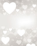 Fondo del cuore del biglietto di S. Valentino Fotografia Stock