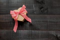 Fondo del cuore del regalo Fotografia Stock