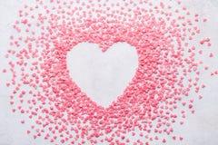 Fondo del cuore di Candy per il San Valentino Copi lo spazio immagine stock