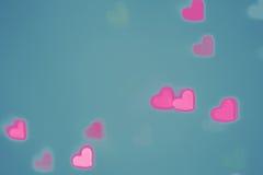 Fondo del cuore di giorno di biglietti di S. Valentino immagine stock libera da diritti