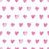 Fondo del cuore di scarabocchio Fotografia Stock Libera da Diritti