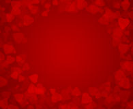 Fondo del cuore per il giorno del biglietto di S. Valentino Fotografie Stock