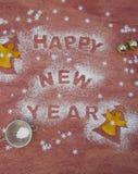 Fondo del día de Año Nuevo Foto de archivo libre de regalías