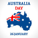 Fondo del día de Australia Foto de archivo