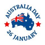 Fondo del día de Australia Foto de archivo libre de regalías