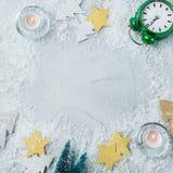 Fondo del día de fiesta del Año Nuevo de la Navidad con la decoración festiva Fotos de archivo