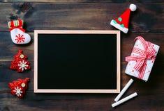 Fondo del día de fiesta del Año Nuevo de Navidad de la Navidad con chal negro vacío Foto de archivo