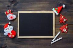 Fondo del día de fiesta del Año Nuevo de Navidad de la Navidad con chal negro vacío Fotografía de archivo