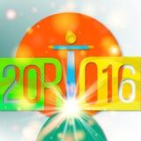 Fondo del día de fiesta al olimpiiade en Rio de Janeiro 2016 stock de ilustración