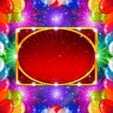 Fondo del día de fiesta con el marco de los globos Imagen de archivo