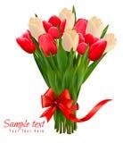 Fondo del día de fiesta con el ramo de flores coloridas Foto de archivo