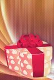 Fondo del día de fiesta con el rectángulo de regalo Imagen de archivo libre de regalías