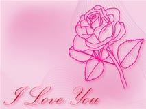 Fondo del día de fiesta con una rosa Fotos de archivo libres de regalías
