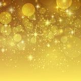 Fondo del día de fiesta con vector de oro del bokeh Fotos de archivo