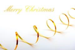 Fondo del día de fiesta de la Navidad con la cinta del oro Fotografía de archivo libre de regalías