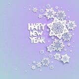 Fondo 02 del día de fiesta de los copos de nieve Imagen de archivo
