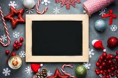 Fondo del día de fiesta del Año Nuevo de Navidad de la Navidad con chal negro vacío Fotos de archivo