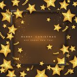 Fondo del día de fiesta de la Feliz Navidad Imagenes de archivo