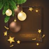 Fondo del día de fiesta de la Feliz Navidad Foto de archivo