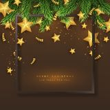 Fondo del día de fiesta de la Feliz Navidad Foto de archivo libre de regalías