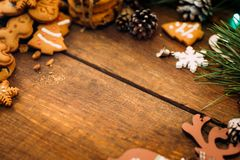 Fondo del día de fiesta de la Navidad y del Año Nuevo Imagenes de archivo