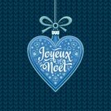 Fondo del día de fiesta Tarjeta de Navidad Joyeux Noel Foto de archivo libre de regalías