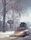 Fondo del día de fiesta del viaje del invierno ilustración del vector