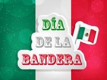 Fondo del día de la bandera de México Fotografía de archivo libre de regalías