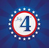 Fondo del Día de la Independencia de los E.E.U.U. Imagen de archivo