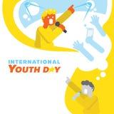Fondo del día de la juventud del sueño de la estrella del cantante Fotos de archivo