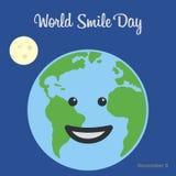 Fondo del día de la sonrisa del mundo Imagen de archivo libre de regalías