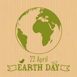 Fondo del Día de la Tierra en el papel machacado Fotos de archivo libres de regalías