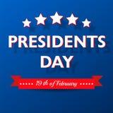 Fondo del día de los presidentes Plantilla patriótica de los E.E.U.U. con el texto, las rayas y las estrellas para los carteles,  Foto de archivo libre de regalías
