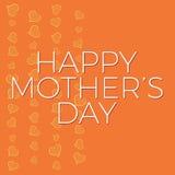 Fondo del día de madres y plantilla felices de la tarjeta con los corazones dibujados mano Fotografía de archivo