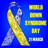Fondo del día de Síndrome de Down del mundo Fotografía de archivo