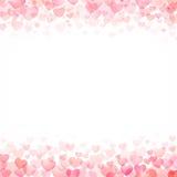 Fondo del día de San Valentín de los corazones stock de ilustración