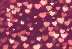 Fondo del día de San Valentín del bokeh de los corazones ilustración del vector