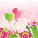 Fondo del día de tarjeta del día de San Valentín Foto de archivo libre de regalías