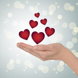 Fondo del día de tarjeta del día de San Valentín Fotos de archivo