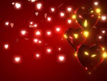 Fondo del día de tarjeta del día de San Valentín ilustración del vector