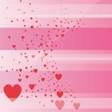 Fondo del día de tarjeta del día de San Valentín Imagenes de archivo