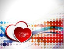 Fondo del día de tarjeta del día de San Valentín Fotos de archivo libres de regalías