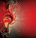 Fondo del día de tarjeta del día de San Valentín stock de ilustración