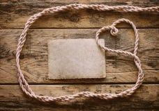 Fondo del día de tarjeta del día de San Valentín con la cuerda Foto de archivo libre de regalías