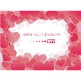 Fondo del día de tarjeta del día de San Valentín con los corazones stock de ilustración