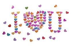 Fondo del día de tarjeta del día de San Valentín con los corazones Fotografía de archivo