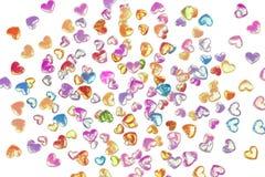Fondo del día de tarjeta del día de San Valentín con los corazones Fotos de archivo